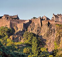 Basking in the Sun - Edinburgh Castle by Andrew Ness - www.nessphotography.com