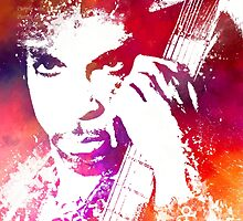 Prince Rogers Nelson and guitar by JBJart