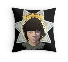 Sheriff Coral Throw Pillow