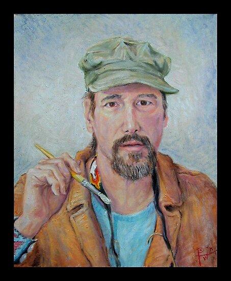 Self Portrait w/Green Cap by HDPotwin