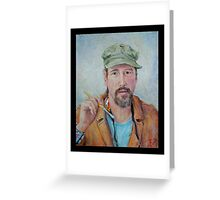 Self Portrait w/Green Cap Greeting Card