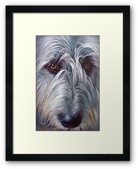 Irish Wolfhound by Elena Kolotusha