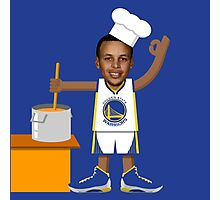 Chef Curry with the Pot, Boy! Photographic Print