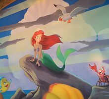 Disney The Little Mermaid Princess Ariel Friends Flounder  by notheothereye