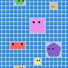 Cute Shapes On A Grid by jezkemp