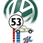 Herbie 53 VW bug beetle by ALIANATOR