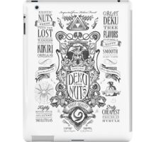 Legend of Zelda Deku Nuts Vintage Advertisement iPad Case/Skin