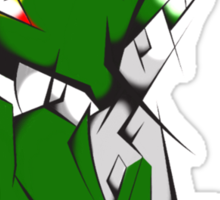 Green Voltron Lion Cubist Sticker