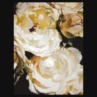 Beautiful White Roses by Hadi Santoro