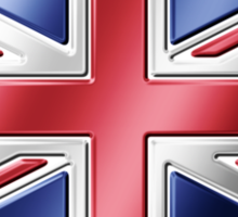 British Union Jack Flag 2 - UK - Metallic Sticker