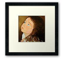 Portrait of Anna  - Oil Painting Framed Print