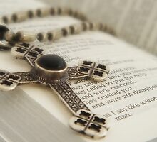 Cross on Bible by Suki Lock