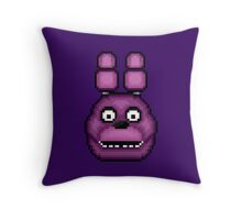 Five Nights at Freddy's 1 - Pixel art - Bonnie Throw Pillow