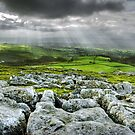Sun-beams over Ingleton. Yorkshire Dales by Steve  Liptrot