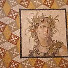 Roman mosaic of Bacchus, god of wine by cascoly