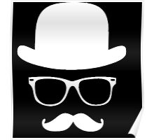 Moustache with hat and glasses couple Poster