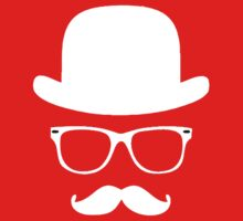 Moustache with hat and glasses couple Kids Clothes