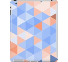 Blue-brown triangles pattern iPad Case/Skin