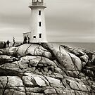 Peggy's Cove Lighthouse,  Nova Scotia by Dohmnuill