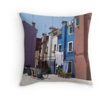 Out to dry - Barano -  street or backyard? Throw Pillow