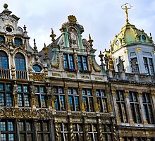 Guild Houses 2 - Grand Place - Brussels, Belgium by Alison Cornford-Matheson