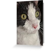 Cat PolyPortrait Greeting Card