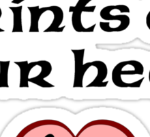 AmStaffs Leave Paw Prints On Your Heart Sticker