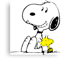 Snoopy and Woodstock Canvas Print