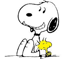 Snoopy and Woodstock Photographic Print