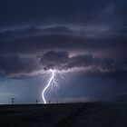 Ghostly image lightning Colorado USA by jdeguara