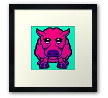 Year Of The Sheep Pink and Purple Framed Print