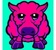 Year Of The Sheep Pink and Purple Photographic Print