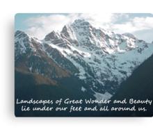 Landscapes of Great Wonder  Canvas Print