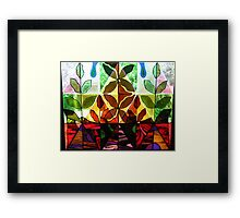 Close up...base of the Butterfly Window! Framed Print