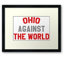 Ohio against the world - scarlet and gray Framed Print