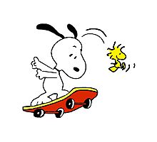 Snoopy on skate Photographic Print