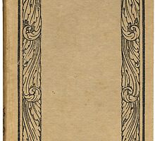 Antique bookcover with floral frame by Colorello