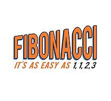 Fibonacci It's as Easy as 1, 1, 2, 3 Photographic Print