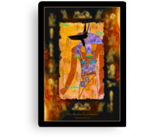 """The Anubis Parchment"" Canvas Print"