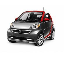 Smart Fortwo Electric Drive Cabriolet electric car art photo print Photographic Print