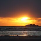 Ferry at Sunset. by Steve9