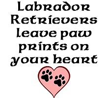 Labrador Retrievers Leave Paw Prints On Your Heart by kwg2200