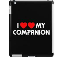 I Two-Heart My Companion Design (Black) iPad Case/Skin