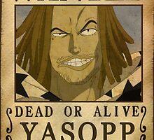 Wanted Yasopp - One Piece by Amynovic