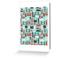 London Block Print by Andrea Lauren Greeting Card