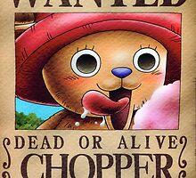 Wanted Chopper - One Piece by Amynovic