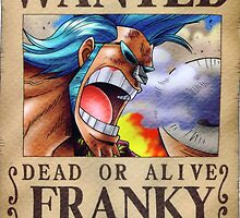 Wanted Franky - One Piece by Amynovic