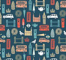 London Block Print - Multi by Andrea Lauren by Andrea Lauren