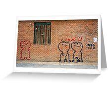 Love graffiti Greeting Card