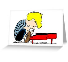 Schroeder on piano Peanuts Greeting Card